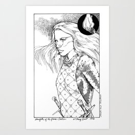 Caitlin, Daughter of Flame Art Print