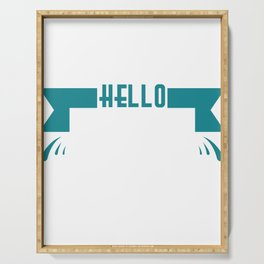 """Simple and nice tee design perfect gift this seasons of giving. Grab this """"Hello spring"""" tee now!  Serving Tray"""