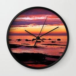 Sainte-Anne-Des-Monts Signature Sunset Wall Clock