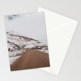 Amazing road and Snow capped mountains in leh-ladakh Stationery Cards