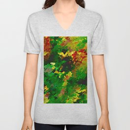 Emerald Forms Abstract Unisex V-Neck
