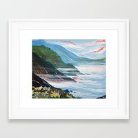 big sur Framed Art Prints featuring Big Sur by Laura Hol Art