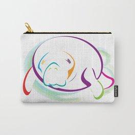 Rainbow Manatee Carry-All Pouch