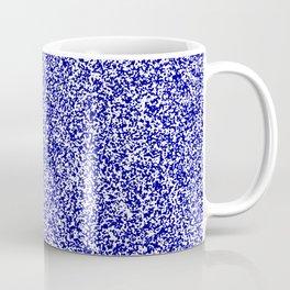 Spacey Melange - White and Dark Blue Coffee Mug