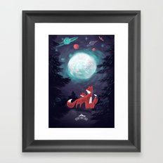 Clever Fox's Tales about the Universe Framed Art Print