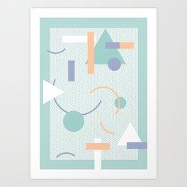Geometric Calendar - Day 14 Art Print