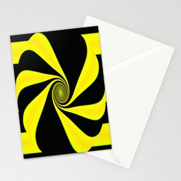 Abstract. Yellow+Black. Stationery Cards
