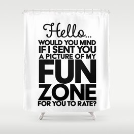 Fun Zone Shower Curtain