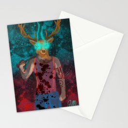 Hotline Miami deer mask guy Stationery Cards