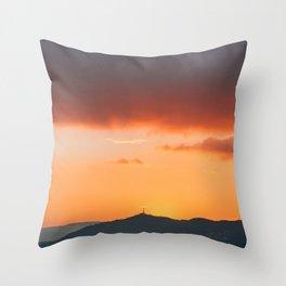Barcelona Sunset 03 Throw Pillow
