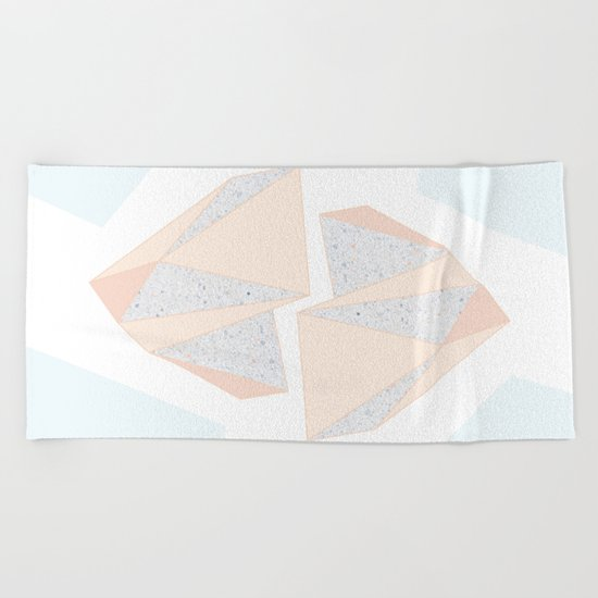 Abstract Iceberg Inspired with Terrazzo Patterns Beach Towel