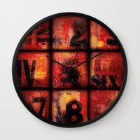 numbers Wall Clocks featuring Numbers by Liz Moran