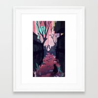 lovers Framed Art Prints featuring Lovers by youcoucou
