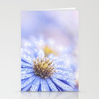 biology Stationery Cards featuring Blue Aster in LOVE  by UtArt