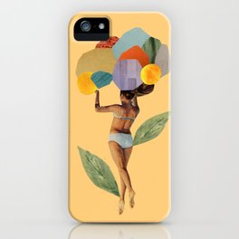 i walk out in the flowers and feel better iPhone Case