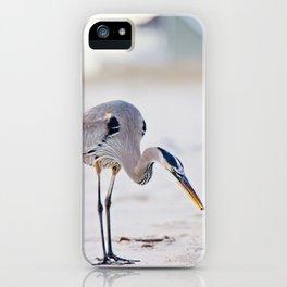 Blue Heron on the Beach iPhone Case