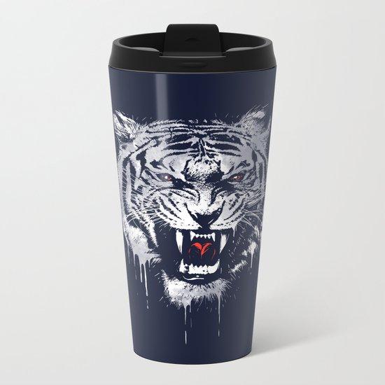 Melting Tiger Metal Travel Mug