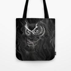 Owl Aflame Tote Bag