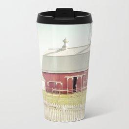 Farm Life ~ Red Barn Travel Mug