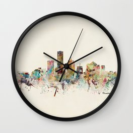 milwaukee wisconsin skyline Wall Clock