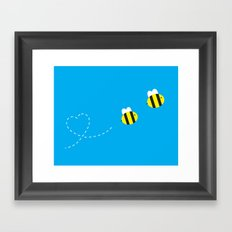 Bee in Love Framed Art Print