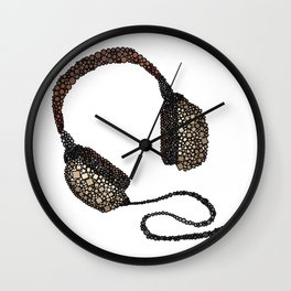 Put Your (Vintage) Headphones On - Abstract Wall Clock