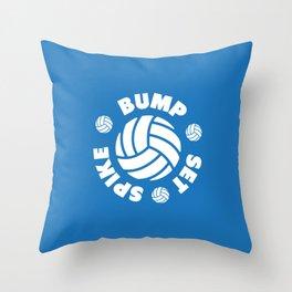 Bump Set Spike Volleyball Throw Pillow