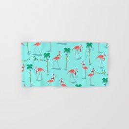 Christmas Flamingo Pattern Hand & Bath Towel