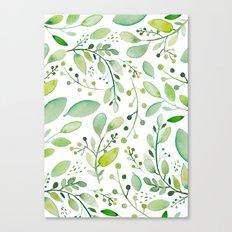 watercolor foliage Canvas Print