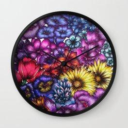 A Field of Flowers Wall Clock