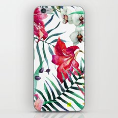 Tropical Watercolor Floral iPhone & iPod Skin