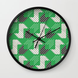 Clover&Nessie Glass/Charcoal Wall Clock