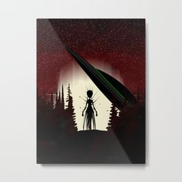 Aliens in the Forest Metal Print