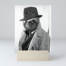 Gentleman Sloth with Coat - Cartoonized Mini Art Print