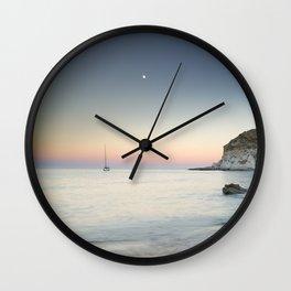 """SuperMoon in Plomo Beach"" Wall Clock"