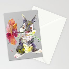 Bunny With flower Stationery Cards