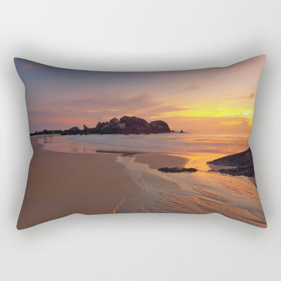Sunset over the Coast Rectangular Pillow