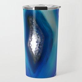 Intense blue agate Travel Mug