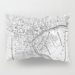 Vintage Map of Newark NJ (1872) BW Pillow Sham