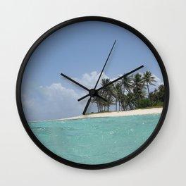 Castaway island Wall Clock