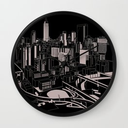 New York Black and White Wall Clock