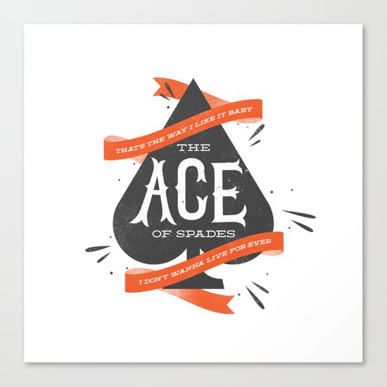 The Ace of Spades Canvas Print