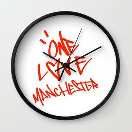 One Love Manchester Stand Up Against Hate Wall Clock