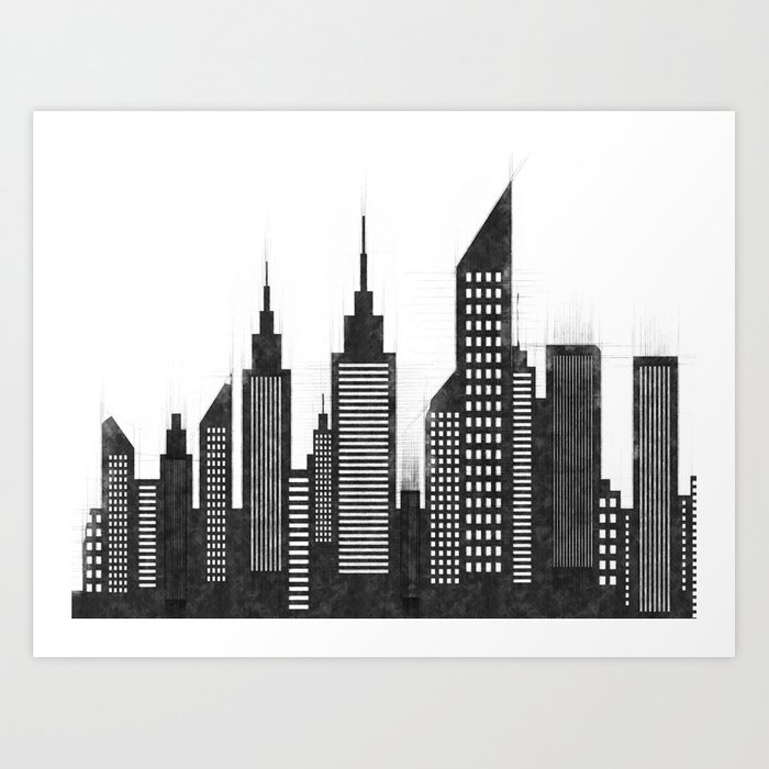 Modern City Buildings And Skysers