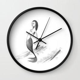 Hang Ten Mermaid Wall Clock