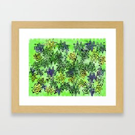 Green Abstract Framed Art Print