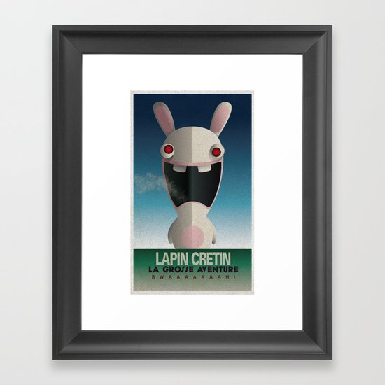 CASSANDRE SPIRIT - Raving Rabbids Framed Art Print