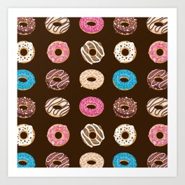 Donut Lover Pattern Design Art Print