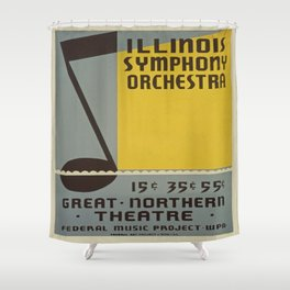 Vintage poster - Illinois Symphony Orchestra Shower Curtain