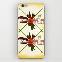 africa iPhone & iPod Skins featuring Africa by famenxt